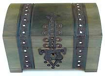 large wood treasure chest