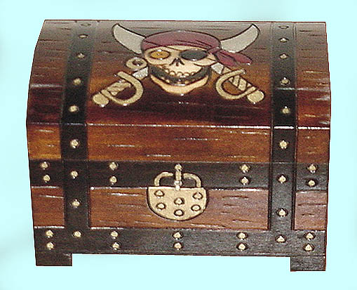 Wooden Treasure Chests, Wooden Boxes, Pirate Treasure Chests and ...