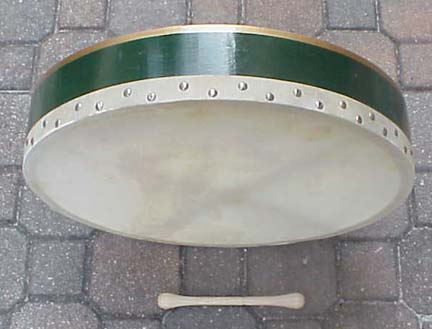 Buy Green Irish Bodhran Drum with Tipper Online Store - Reillys Shop