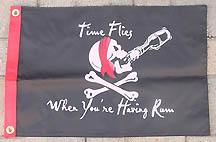 Time Flies when your having rum Flag