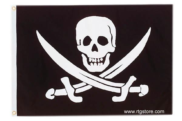3x5 Pirate For Life Pirate Flag Nylon Flag Garden Décor